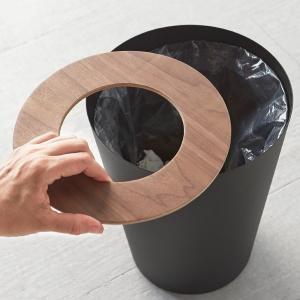 ゴミ箱 丸型 小型 リビング ごみ箱 ブラック ホワイト トラッシュカン 山崎実業|usagi-shop