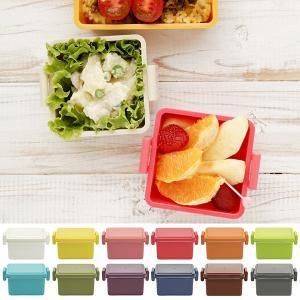 お弁当箱 1段 小さい おかずケース 容器 子ども 女性 おしゃれ 保冷剤入り蓋|usagi-shop