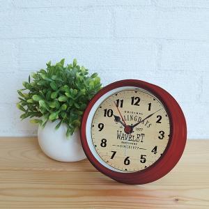 置き時計 アナログ おしゃれな レトロ アンティーク風 赤 青 緑 usagi-shop