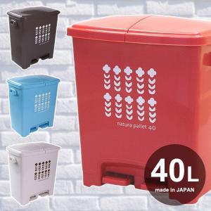 ゴミ箱 分別 40L ペダル式 フタつき 日本製 おしゃれ|usagi-shop
