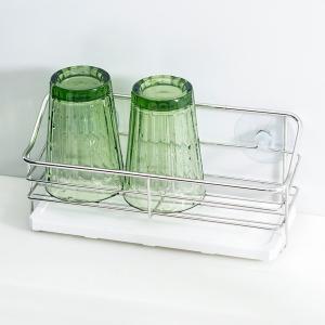 水きりラック ステンレス製 珪藻土プレート 水切り台 吸盤|usagi-shop