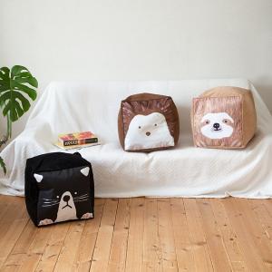 布団収納袋 シングル掛け布団 かわいい おしゃれ ネコ アニマル クッション インテリア usagi-shop