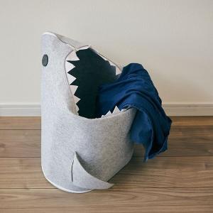 収納ボックス リビング ランドリーバスケット おもちゃ箱 収納 ケース 折りたたみ サメ かわいい おしゃれ インテリア 鮫|usagi-shop