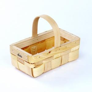 木製バスケット 取っ手 持ち手 かご おしゃれ インテリア 天然素材 ナチュラル 北欧|usagi-shop