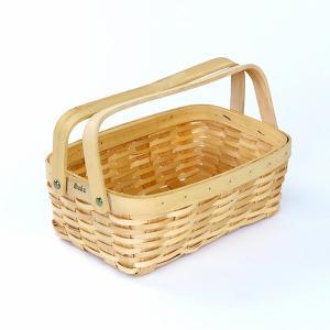 木製バスケット カゴ おしゃれ 取っ手 持ち手 天然素材 ナチュラル 北欧|usagi-shop