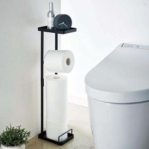 トイレラック トイレットペーパースタンド 補助便座スタンド 収納 ラック トイレ用 山崎実業|usagi-shop