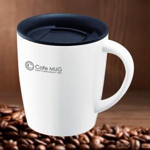 マグ ふた付き 飲みやすい 結露防止 蓋つき マグカップ 保温 保冷 真空 断熱 黒 ブラック 白 ホワイト コーヒー 紅茶 スープ コップ カップ usagi-shop