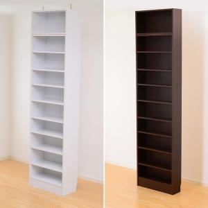 天井つっぱり 本棚 浅型 薄型 ラック|usagi-shop