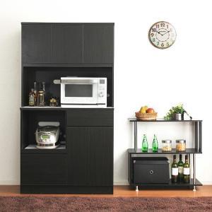 【リレー最終日!最大ポイント10倍】 食器棚 北欧 キッチンボード 100cm幅 完成品|usagi-shop