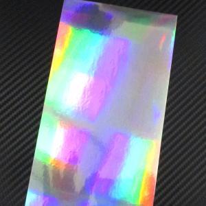ホログラム レインボーミラーホロ 20cmx10cm  1枚(粘着性シールタイプ) ホログラムシート
