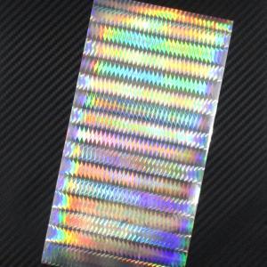 ホログラム ZIG-ZAGホロ SIDE 20cmx10cm  1枚(粘着性シールタイプ) ホログラ...