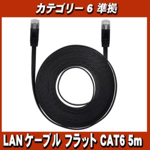 LANケーブル フラット CAT6 5m Category 6 cable