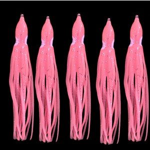 タコベイト  夜光ピンク 10cm 5匹 ラメ入り インチク ジギングなどに T9
