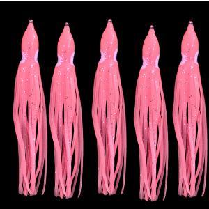 タコベイト  夜光ピンク 12cm 5匹 ラメ入り インチク ジギングなどに T23