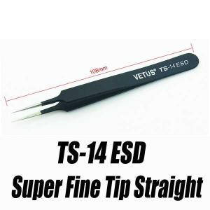 精密ピンセット ツイーザー ピンセット ESD TS-14 ツィーザー Tweezer