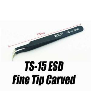 精密ピンセット ツイーザー ピンセット ESD TS-15 ツィーザー Tweezer