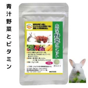 NEW 青汁野菜14種とエンテロコッカス菌、ビタミンなどを配合したおいしいうさぎの野菜サプリ30g