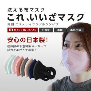 国産 これ、いいざマスク エステティックシルク シルクマスク 洗える シルク マスク ポケット付き 化粧汚れ 日本製 立体 布マスク 大人 子供 UV 肌に優しい|usaginosozaiya
