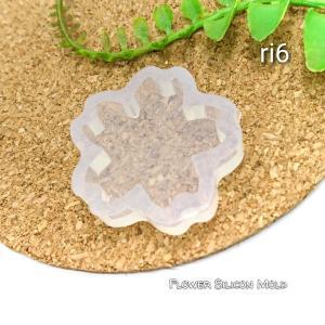 1個 桜の大きめ*シリコンモールド*花の型 約32.5x厚8mm|usaginosozaiya