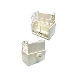 GEX 固定式牧草BOX ホワイト|usagiya