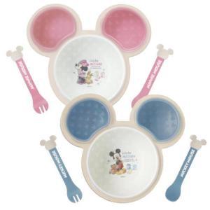 日本製 片手で持てる離乳食パレット ミッキーマウス/ミニーマウス 錦化成 ベビー食器 お食事