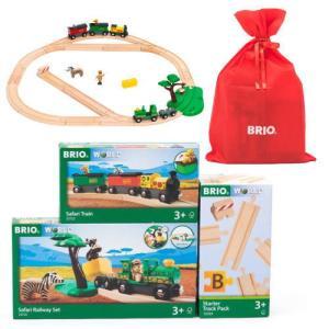 【数量限定ブリオ福袋2020】BRIOアニマルトランスポートセット+ファームトレイン+踏切 木製玩具...