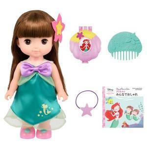 大人気アリエルのお人形セットが登場! おしゃれ遊びにぴったり。アリエルモチーフのおしゃれ小物で遊べま...