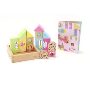 ウッディプッディ木のおもちゃ はじめてのつみき キリコロ桐箱セット 積み木 知育玩具  木製玩具6ヶ月から|usakids