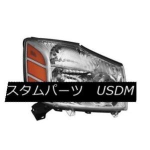 ヘッドライト Fit Nissan 04-15 Titan / 04-07 Armada Repla...