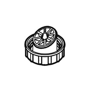 【定型外郵便対応可能】パナソニック(Panasonic)スチーマー ナノケア用 給水タンクキャップEHSA95W3187 純正部品|useful-company