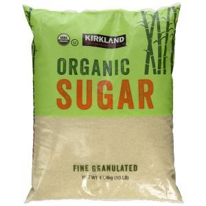 カークランド 砂糖 オーガニック Organic Sugar 4.5Kg 10 Lb コストコ 有機