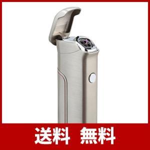 KIVORS ライタープラズマ 電子 USB 充電式 ガス・オイル不要 防風 高級感 おしゃれ プレゼント (シルバー/ブラッシュ) usefulforyou