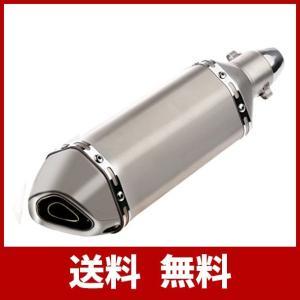 スリップオンマフラー バイクサイレンサー 38mm 50.8mm 汎用 オートバイ チタン色|usefulforyou