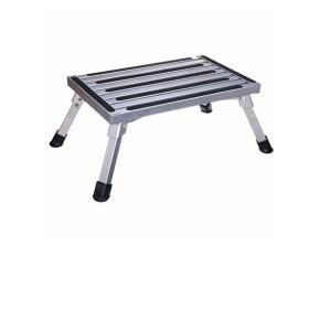 足場台 踏み台 乗降補助踏台 アルミ製はしご 洗車台 (約48cm幅 22.7cm高さ) 最大使用質量は150kg 折りたたみ式 超軽量 usefulforyou