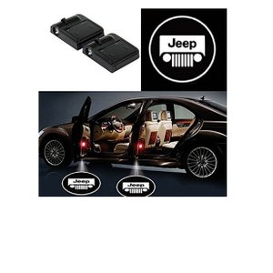 Alichee LED ドアカーテシランプ レーザーロゴライトドアウェルカムライト カーテシライト 2件套 (Jeep)|usefulforyou