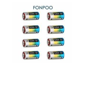 FONPOO 4LR44 6V 乾電池 バッテリー 無駄吠え防止首輪 家電 リモコン カメラ用 無水銀アルカリ電池 8本セット FP-8Bt|usefulforyou
