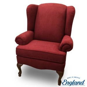 ソファ チェア 1人掛け ソファー 一人掛け おしゃれ 布 赤 ウィングバック ウィングチェア レッド 7909 ANELLO CRANAPPLE Colleen 1334 England|usf
