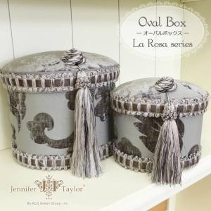 ジェニファーテイラー ボックス USAインテリア雑貨  Jennifer Taylor オーバルボックス La Rosa|usf