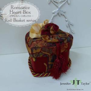 ジェニファーテイラー ジュエリーボックス USAインテリア雑貨 ジェニファーテイラー ロマンスハートボックス Red Basket|usf