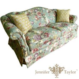 ジェニファーテイラー 3人掛けソファ Chesapeake 輸入家具 アメリカ 花柄 かわいい Jennifer Taylor|usf