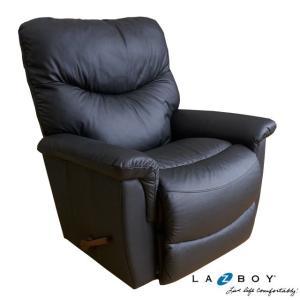 レイジーボーイ LAZBOY リラックスチェア 521 JAMES 1人掛け リクライニングソファ リクライニングチェア おしゃれ 革 総本革 LA-Z-BOY ブラック|usf