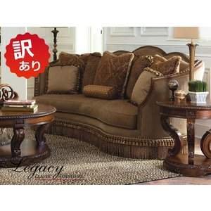 訳あり品 - 座面角ほつれあり  ソファ 3人掛け 高級 ソファー ハイバック 大型 クラシック テイスト アンティーク アメリカ 輸入家具 3100-901 Sofa Legacy|usf