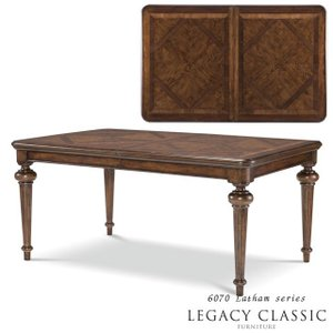 ダイニングテーブル 6人掛け 8人掛け 伸長式 角型 アンティーク調 高級 テーブル 伸縮 Latham6070 Legacy   エクステンション(伸長板)1枚|usf