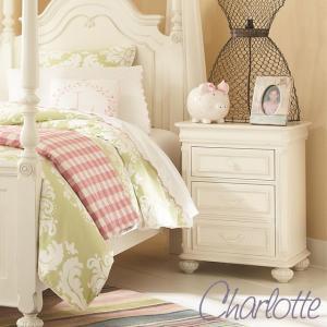 キャビネット 高級 白家具 ホワイト 白 サイドテーブル ナイトスタンド アンティーク調 おしゃれ かわいい チェスト 3850 Charlotte|usf