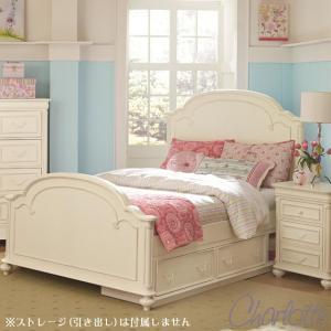 ベッドフレーム ダブル ベッド 白 ホワイト 高級 ( マットレス 別売) アンティーク調 姫 姫系 白家具 ベッド フレーム ダブルベッド 3850 Charlotte usf