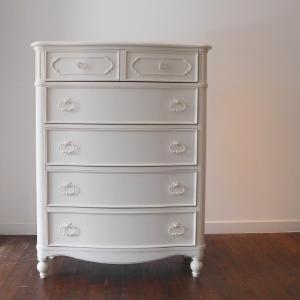 チェスト ホワイト 白 アンティーク クラシック 白家具 洋たんす 収納家具  エレガント 高級 お...