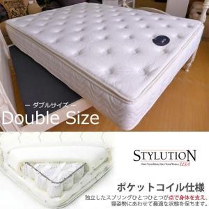 【単品購入専用】アウトレット輸入家具 マットレス Pillow Top ダブル STYLUTION|usf