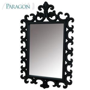 アウトレット輸入家具 ブラックフレームミラー 8764 PARAGON|usf
