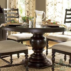 アメリカ 輸入家具 ダイニングテーブル 円形 ポーラディーン アンティーク調 クラシック 丸型 ブラウン|usf