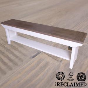 ベンチ スツール チェア フレンチ カントリー パイン 無垢材 アッシュ&ホワイト LS016 Plantation|usf